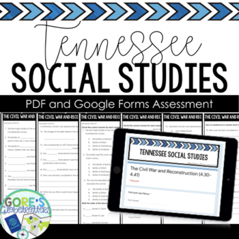 Tennessee Social Studies Test 4th Grade 4.43-4.56