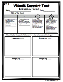 Standards Based Assessment: Visuals and Images Supporting Text