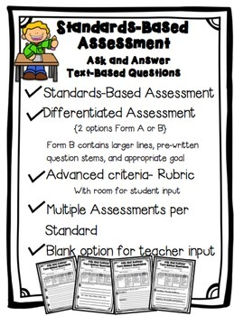 Asking and Answering Questions Standards Based Assessment Print Version