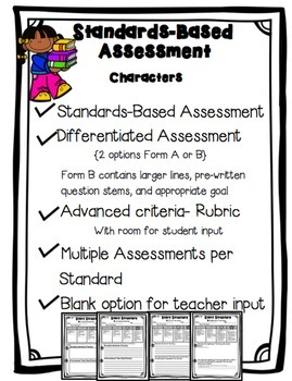 Standards Based Assessment: Character Analysis and Events