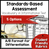 Standards Based Assessment: Vocabulary {Nonfiction Text}