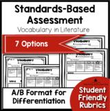 Standards Based Assessment: Vocabulary {Literature}