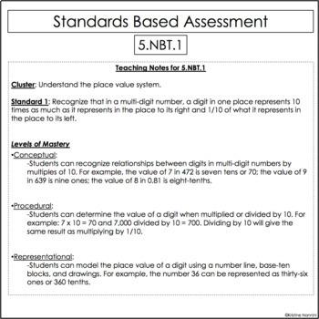 5th Grade Mathessments Common Core Aligned