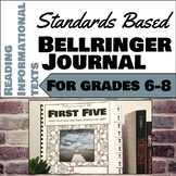Standards Based Bellringer Journal for Reading Information