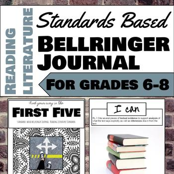 Standards Based Bellringer Journal for Reading Literature, Grades 6-8