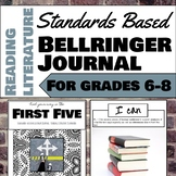 Standards Based Bellringer Journal for Reading Literature,