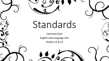 Classroom Posters ELA 11&12 Common Core and Standards of Excellence