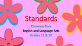 Classroom Posters ELA 11&12 Common Core and Standards of E