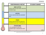 Standards-Based Classroom Setting Performance Meter Poster (Elementary)