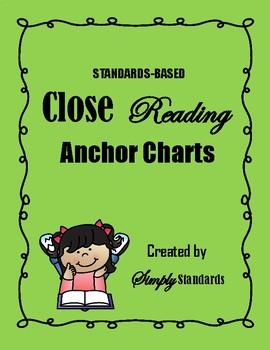 Standards-Based Close Reading Anchor Charts