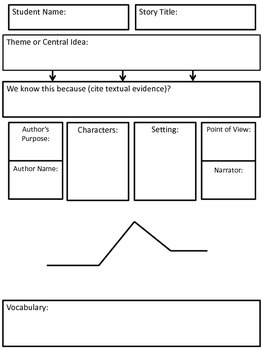 Standards Based Fiction Graphic Organizer
