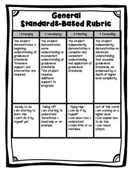 Standards-Based General Rubric