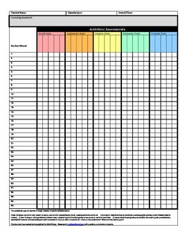 Standards Based Grade Book Page (EDITABLE)