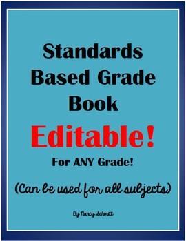 Standards-Based Grade Book - EDITABLE!