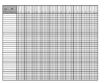 Standards Based Grade Sheet and Attendance Sheets