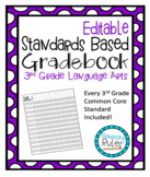 Editable Standards Based Gradebook 3rd Grade Language Arts