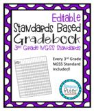Editable Standards Based Gradebook 3rd Grade Science