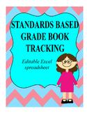 Standards Based Gradebook Tracking Sheet Editable Excel