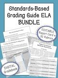 Standards-Based Grading BUNDLE | EDITABLE Report Card, Gradebook, & Rubrics