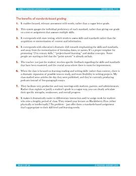 Standards-Based Grading   Master CCSS Aligned ELA Grading Framework