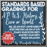 Standards Based Grading SBG APUSH AP U.S. History AP Euro or AP World