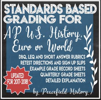 Standards Based Grading SBG APUSH AP U.S. History AP Euro or AP World