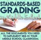 Standards Based Grading SBG for Middle School Teachers Explanation and Documents