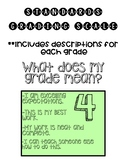 Standards Based Grading Scale with Descriptions