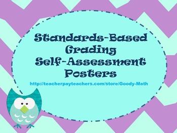 Standards-Based Grading Self-Assessment Posters
