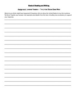 Standards Based Grading Writing Assignment and Rubric