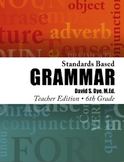 Standards Based Grammar: Grade 6 Soft Cover
