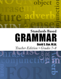 Standards Based Grammar: Grades 7-8 eBook