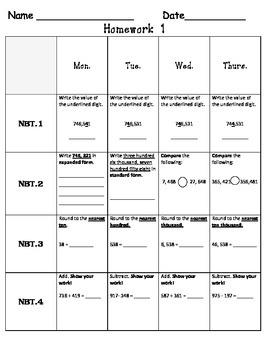 Standards Based Homework-Week 1