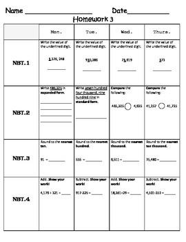 Standards Based Homework - Week 3