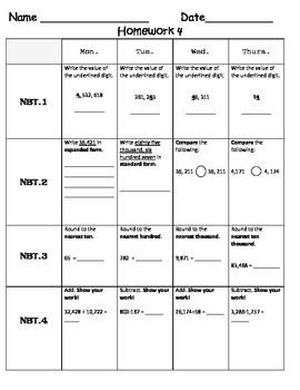 Standards Based Homework - Week 4