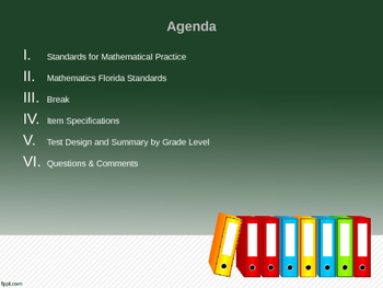 Standards-Based Instruction:  Mathematics Florida Standards PPT