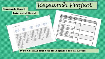 Standards Based, Interest Based, Research Project