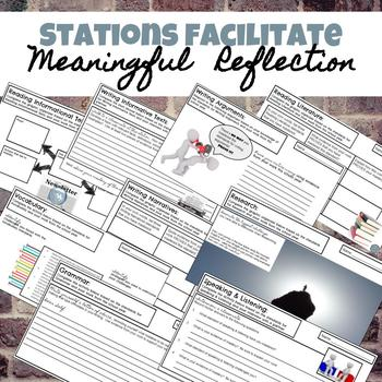 Standards Based Learning Reflection Stations for Grades 6-8