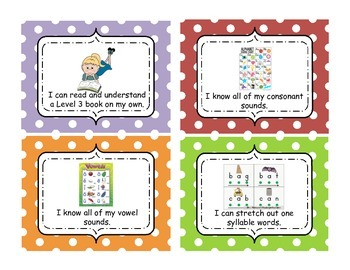 Standards Based Literacy Target Achievement Lanyard Certificates