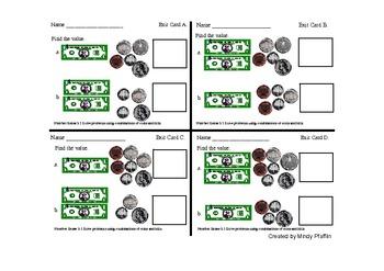 Standards-Based Math Exit Cards (2nd Grade)