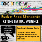 Standards Based Mini-Lesson: Citing Textual Evidence, Song
