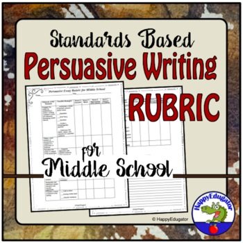 Persuasive Writing Rubric Based on Standards