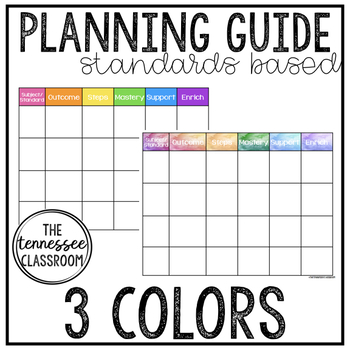 Standards-Based Planning Guide (3 Printing Options!)