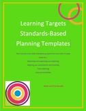 Standards-Based Planning Outline Templates - Kindergarten