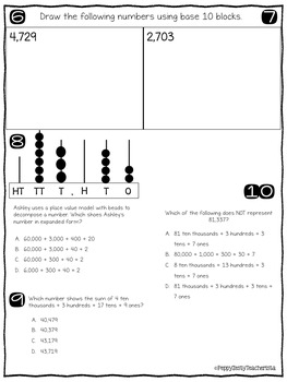 FREE Standards Based Quick Checks: Place Value