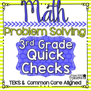 Standards Based Quick Checks: Problem Solving