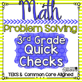 Standards Based Quick Checks: Problem Solving