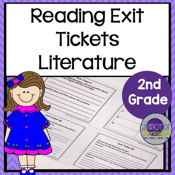 Standards Based Reading Exit Tickets: 2nd Grade Literature