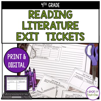 Standards Based Reading Exit Tickets: 4th Grade Literature