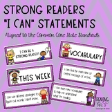 "Standards-Based Reading ""I Can"" Statements"